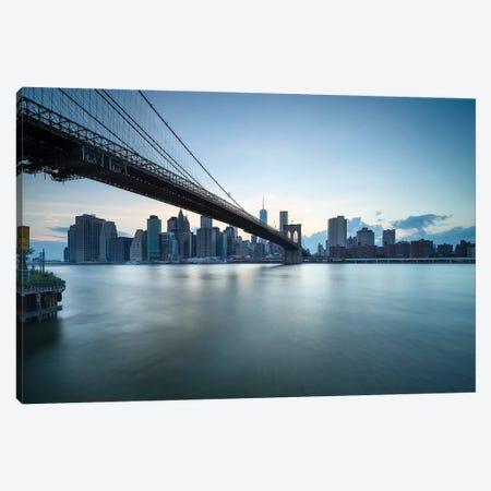 Brooklyn Bridge at dusk, New York City, USA Canvas Print #JNB587} by Jan Becke Canvas Print