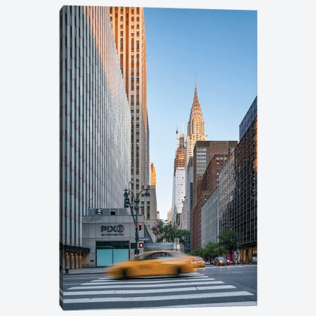 Chrysler Building at sunrise, Midtown Manhattan Canvas Print #JNB589} by Jan Becke Canvas Artwork