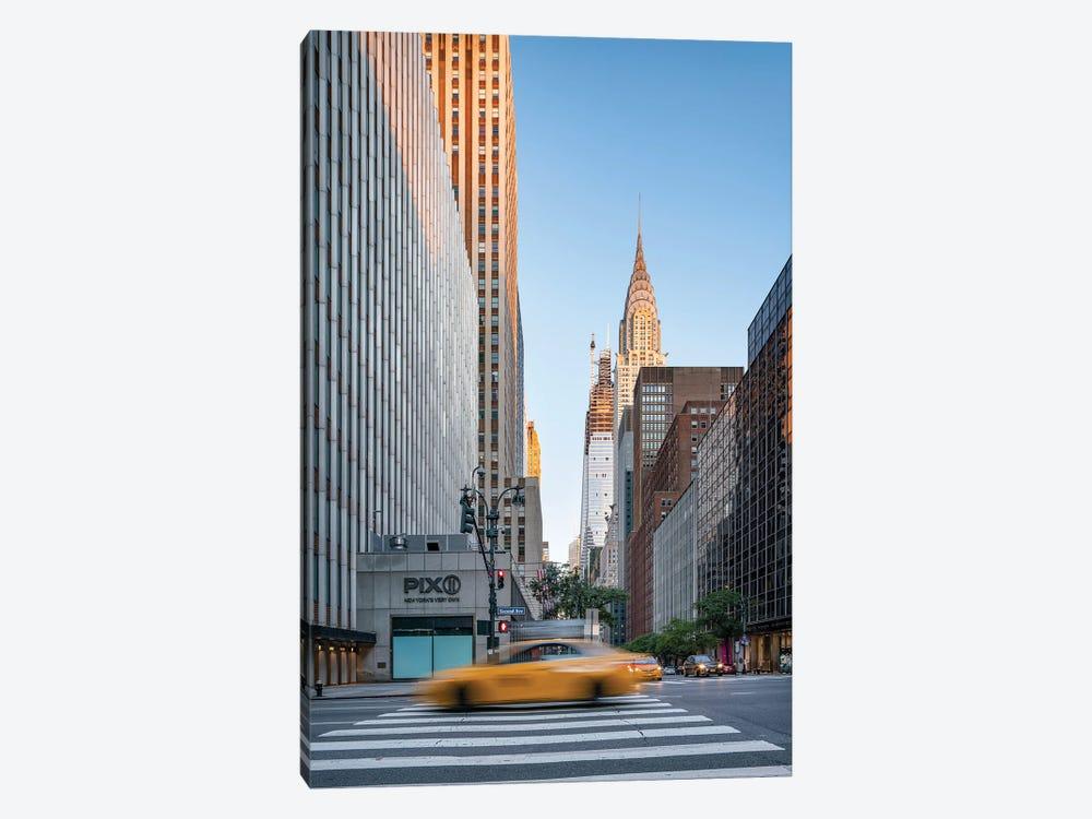 Chrysler Building at sunrise, Midtown Manhattan by Jan Becke 1-piece Canvas Wall Art