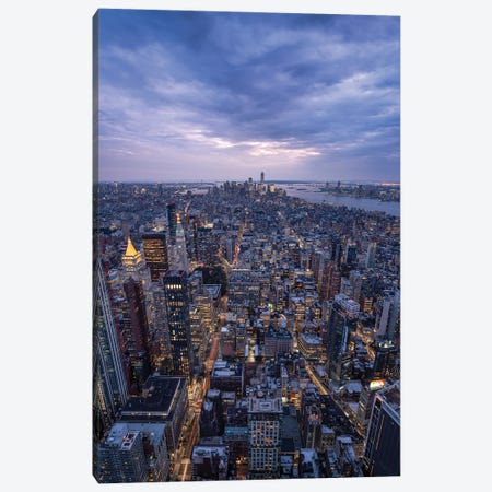 Lower Manhattan Skyline seen from top of the Empire State Building Canvas Print #JNB591} by Jan Becke Art Print