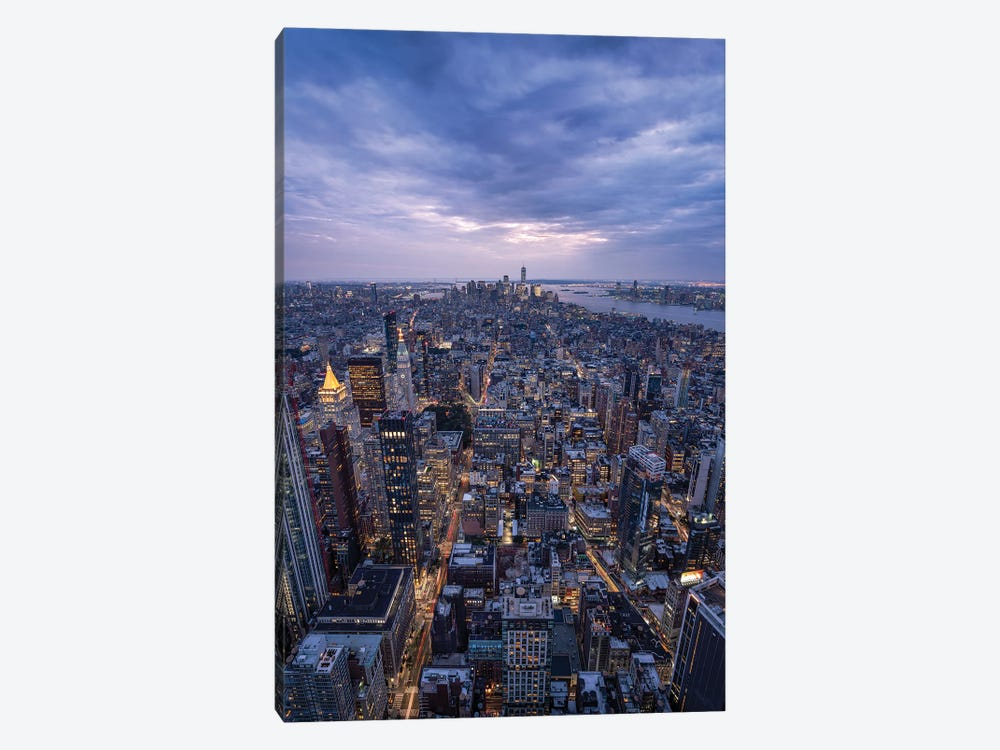 Lower Manhattan Skyline seen from top of the Empire State Building by Jan Becke 1-piece Art Print