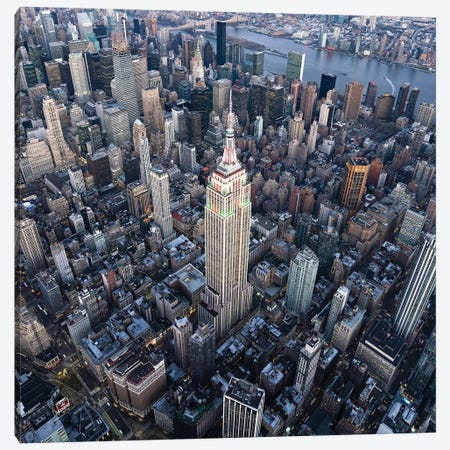 Aerial view of the Empire State Building in Midtown Manhattan Canvas Print #JNB592} by Jan Becke Canvas Art Print