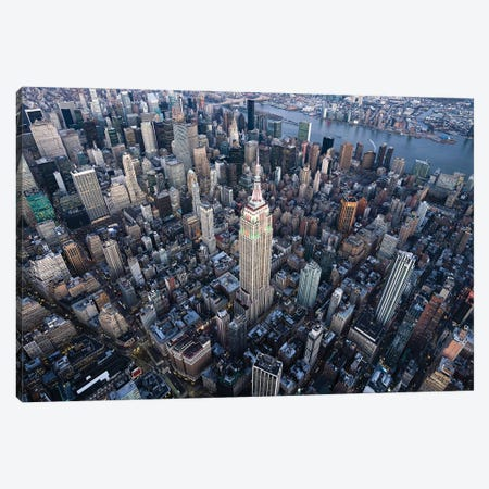 Aerial view of the Empire State Building in Midtown Manhattan, New York City, USA Canvas Print #JNB593} by Jan Becke Canvas Art Print