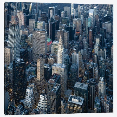 Aerial view of the Chrysler Building in Midtown Manhattan Canvas Print #JNB594} by Jan Becke Canvas Artwork