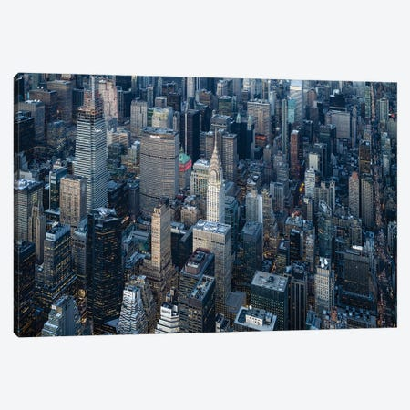 Aerial view of the Chrysler Building in Midtown Manhattan, New York City, USA Canvas Print #JNB595} by Jan Becke Canvas Art