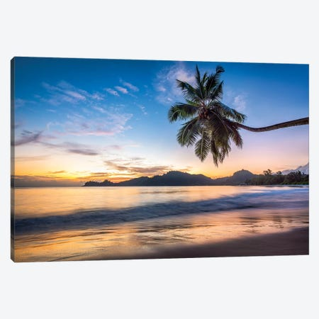 Baie Lazare Beach Canvas Print #JNB5} by Jan Becke Canvas Artwork