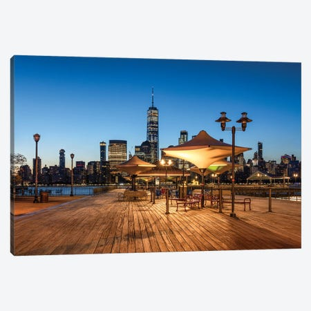 J Owen Grundy Park with Manhattan Skyline and One World Trade Center Canvas Print #JNB602} by Jan Becke Canvas Art Print