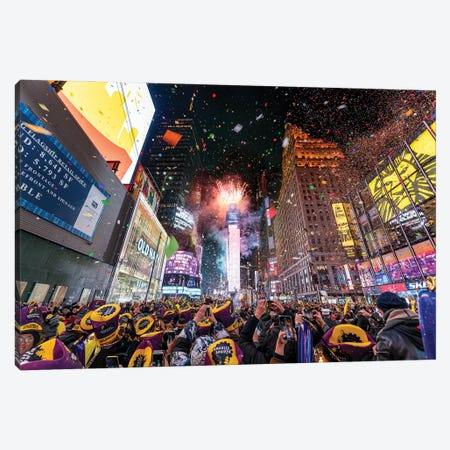 Times Square New Year's Eve celebration Canvas Print #JNB603} by Jan Becke Canvas Print