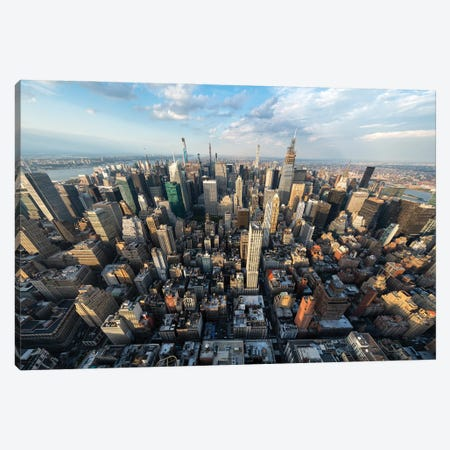 Skyscraper buildings in Midtown Manhattan Canvas Print #JNB608} by Jan Becke Art Print