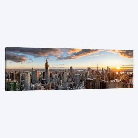 Manhattan skyline panorama Canvas Print #JNB612} by Jan Becke Canvas Wall Art