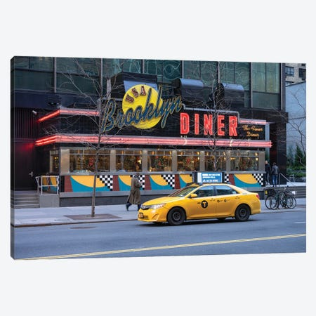 Brooklyn Diner Canvas Print #JNB616} by Jan Becke Canvas Print