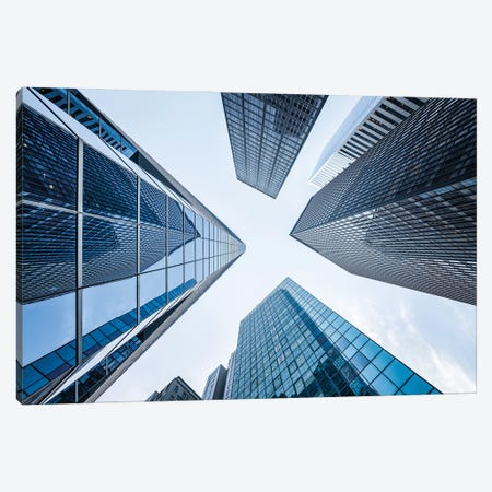 Office buildings near Wall Street, New York City, USA Canvas Print #JNB620} by Jan Becke Canvas Print