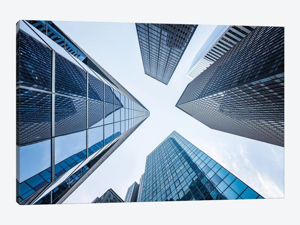 Office buildings near Wall Street, New York City, USA by Jan Becke 1-piece Canvas Art Print