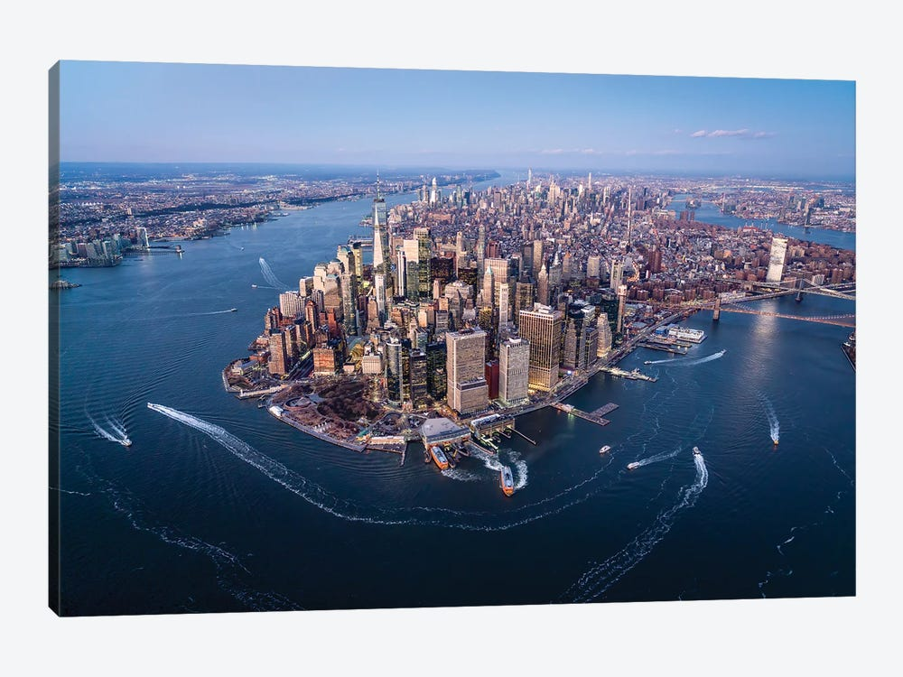 Aerial view of the Lower Manhattan skyline, New York City by Jan Becke 1-piece Canvas Wall Art