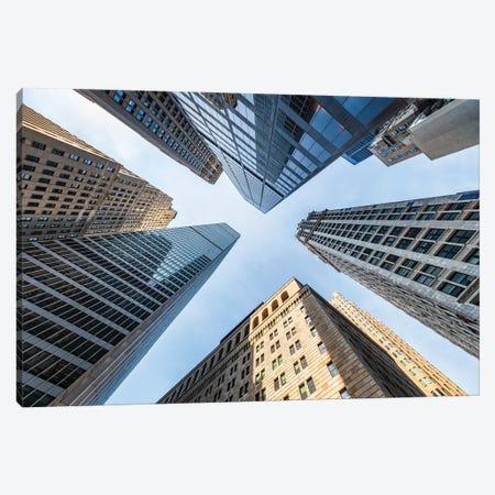 Office buildings near Wall Street, New York City Canvas Print #JNB638} by Jan Becke Canvas Art