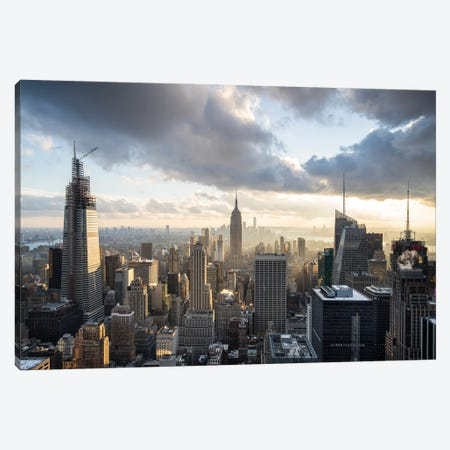 Aerial view of the Manhattan skyline Canvas Print #JNB640} by Jan Becke Canvas Art Print