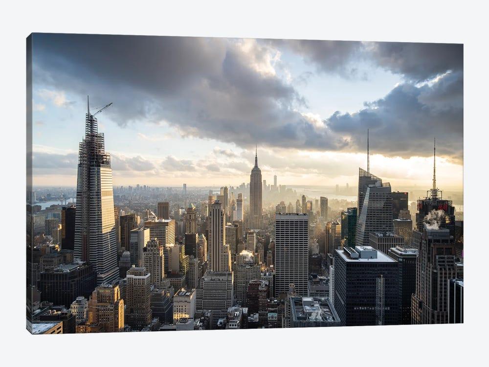 Aerial view of the Manhattan skyline by Jan Becke 1-piece Art Print