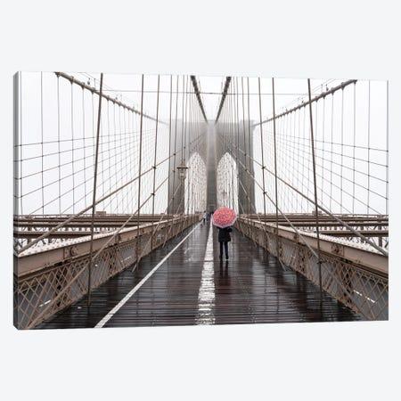 Brooklyn Bridge winter fog Canvas Print #JNB642} by Jan Becke Canvas Print