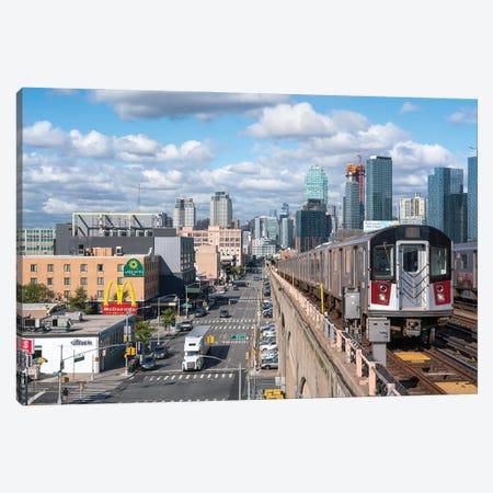 7 train from Manhattan to Queens Canvas Print #JNB643} by Jan Becke Canvas Print