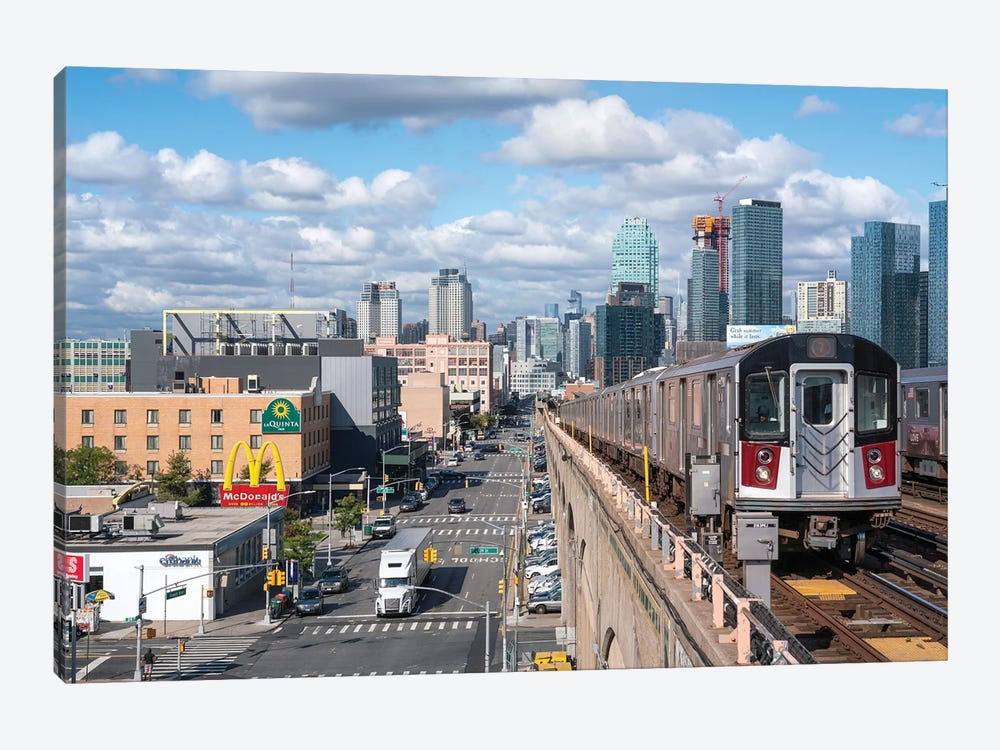 7 train from Manhattan to Queens by Jan Becke 1-piece Canvas Artwork