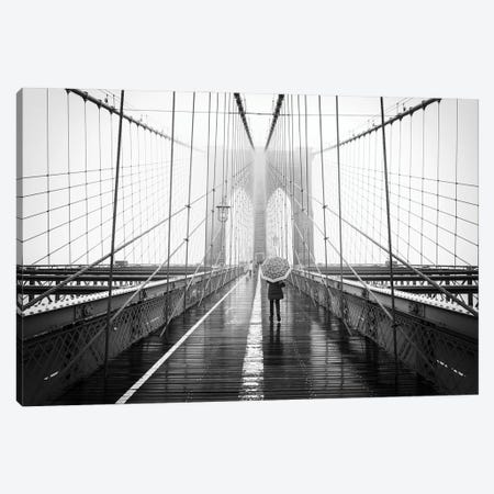 Brooklyn Bridge in winter Canvas Print #JNB644} by Jan Becke Canvas Wall Art