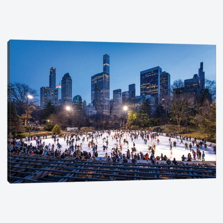 Wollman Rink in Central Park, New York City, USA Canvas Print #JNB645} by Jan Becke Canvas Art