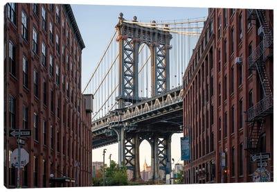 Manhattan Bridge View in Dumbo, Brooklyn, New York City Canvas Art Print