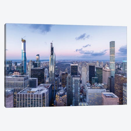 Modern skyscraper buildings in Midtown Manhattan and Central Park, New York City, USA Canvas Print #JNB651} by Jan Becke Canvas Wall Art