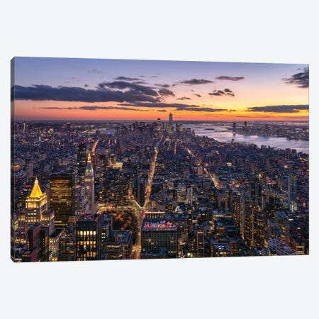 Aerial view of Lower Manhattan Canvas Print #JNB653} by Jan Becke Canvas Wall Art