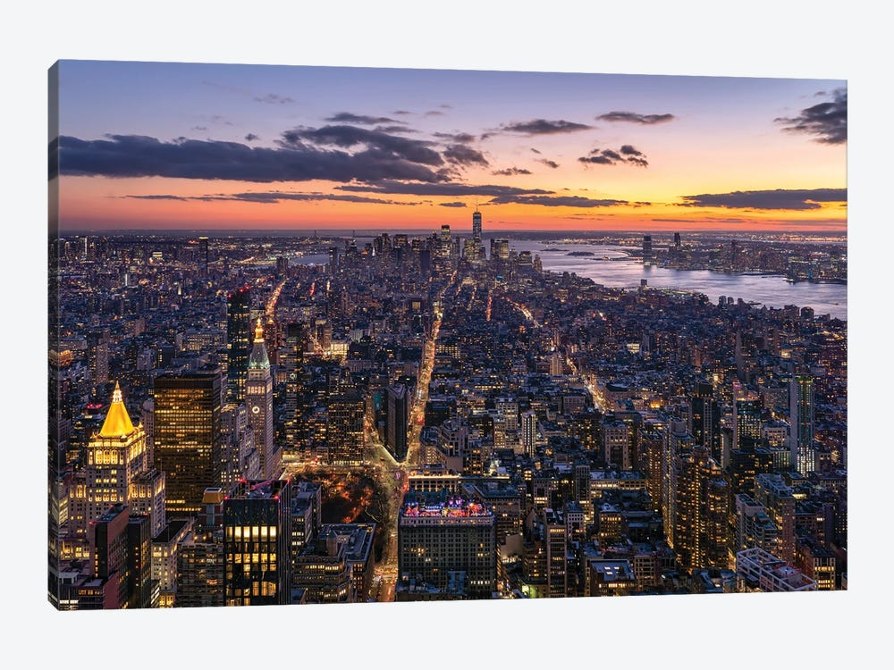 Aerial view of Lower Manhattan by Jan Becke 1-piece Canvas Print
