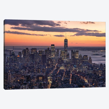 Lower Manhattan Canvas Print #JNB654} by Jan Becke Art Print