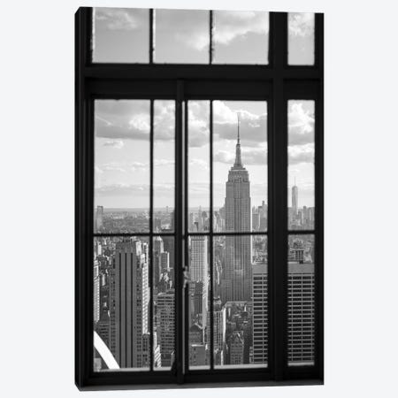 Empire State Building in black and white Canvas Print #JNB662} by Jan Becke Canvas Print