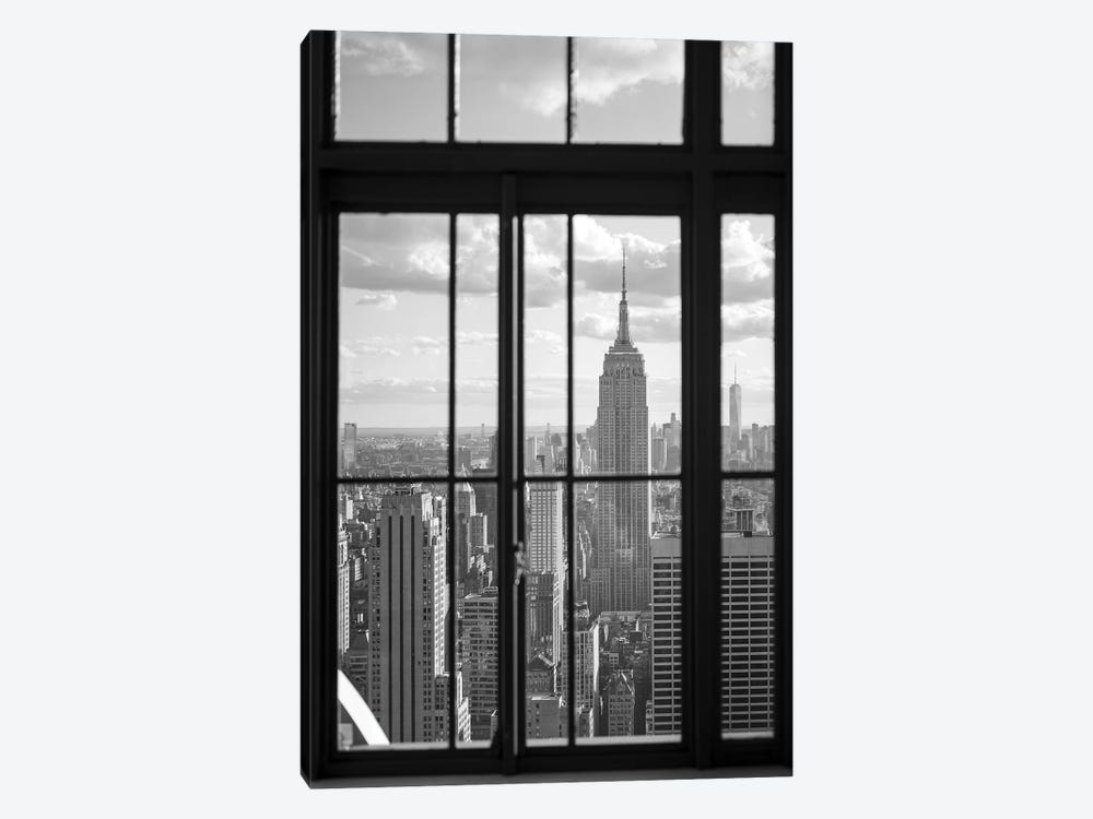 Empire State Building in black and white by Jan Becke 1-piece Art Print