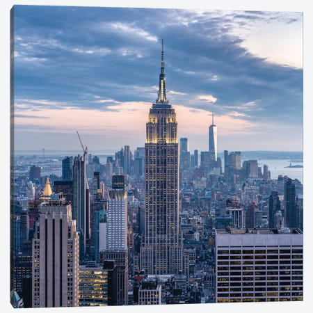 Empire State Building at dusk Canvas Print #JNB663} by Jan Becke Canvas Art Print