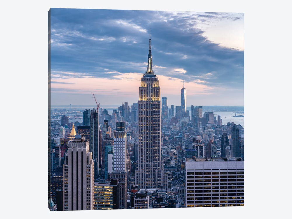 Empire State Building at dusk by Jan Becke 1-piece Canvas Artwork