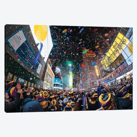 Times Square New Year's Eve Canvas Print #JNB664} by Jan Becke Canvas Art