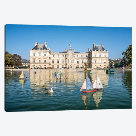 Jardin Du Luxembourg Canvas Print #JNB66} by Jan Becke Canvas Art
