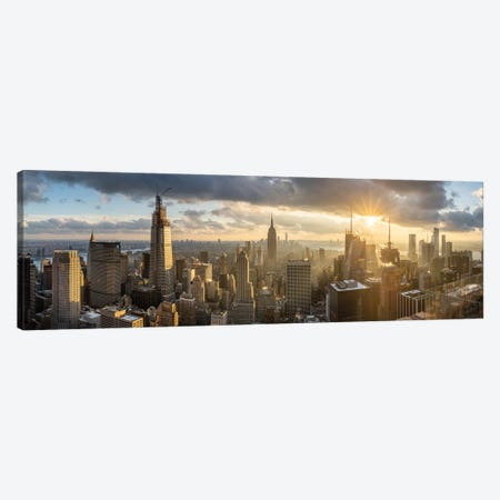 View from Top of the Rock at the Rockefeller Center, Midtown Manhattan, New York City, USA Canvas Print #JNB673} by Jan Becke Canvas Wall Art