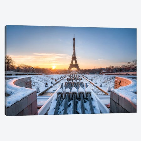 Jardins Du Trocadéro In Winter Canvas Print #JNB67} by Jan Becke Canvas Artwork