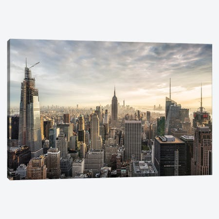 Manhattan Skyline With Empire State Building, Midtown Manhattan, New York City, USA Canvas Print #JNB682} by Jan Becke Art Print