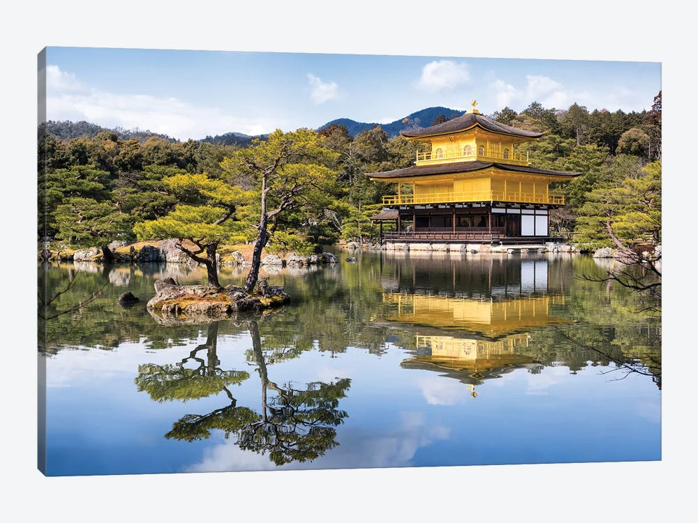 Kinkaku-Ji by Jan Becke 1-piece Canvas Print