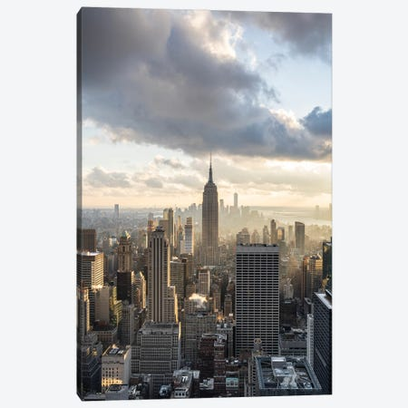 Empire State Building At Sunset, New York City Canvas Print #JNB692} by Jan Becke Canvas Wall Art