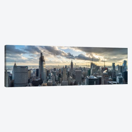 Panoramic View Of Midtown Manhattan Canvas Print #JNB694} by Jan Becke Canvas Art Print