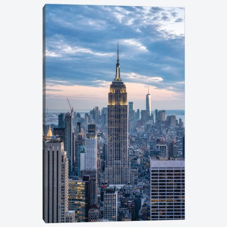 Empire State Building At Dusk, New York City Canvas Print #JNB696} by Jan Becke Canvas Print