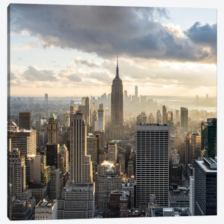 Empire State Building Seen From Rockefeller Center Canvas Print #JNB697} by Jan Becke Art Print