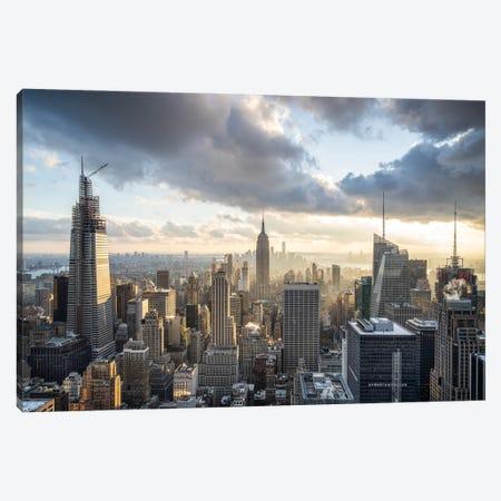 Manhattan Skyline And Empire State Building Canvas Print #JNB698} by Jan Becke Canvas Artwork