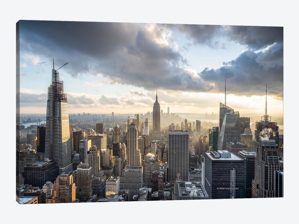Manhattan Skyline And Empire State Building by Jan Becke 1-piece Canvas Artwork
