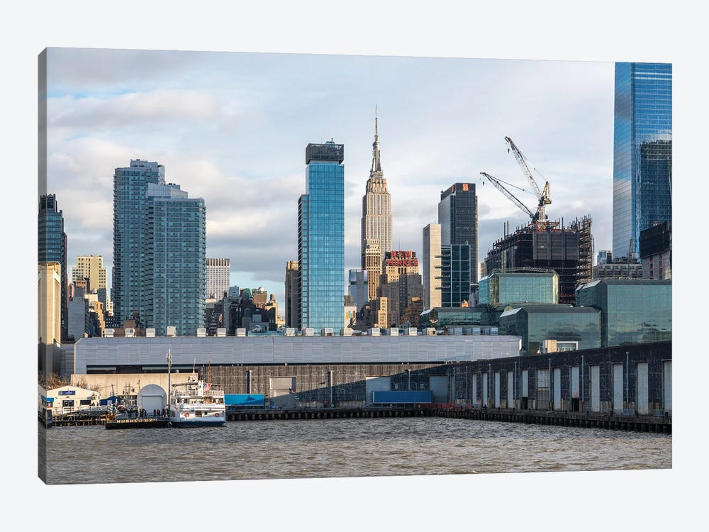 Empire State Building Along The Hudson River by Jan Becke 1-piece Art Print
