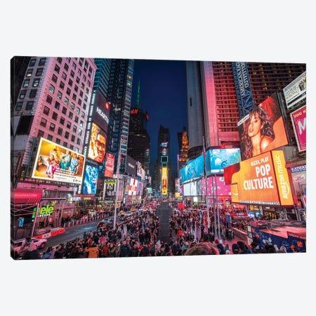 Times Square, New York City Canvas Print #JNB711} by Jan Becke Art Print