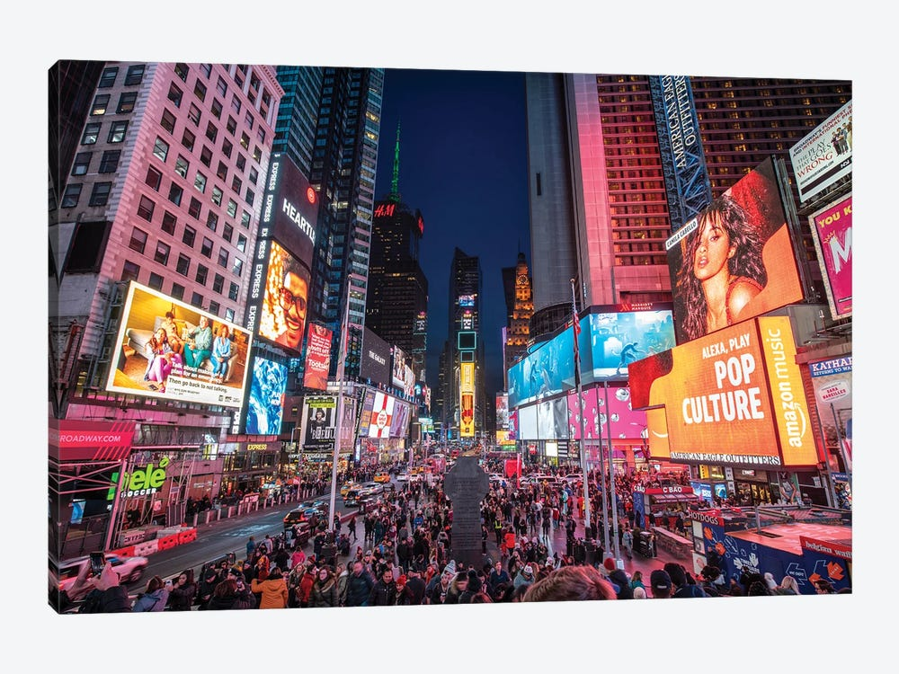 Times Square, New York City by Jan Becke 1-piece Canvas Artwork